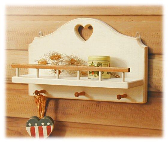 Hook shelf wht
